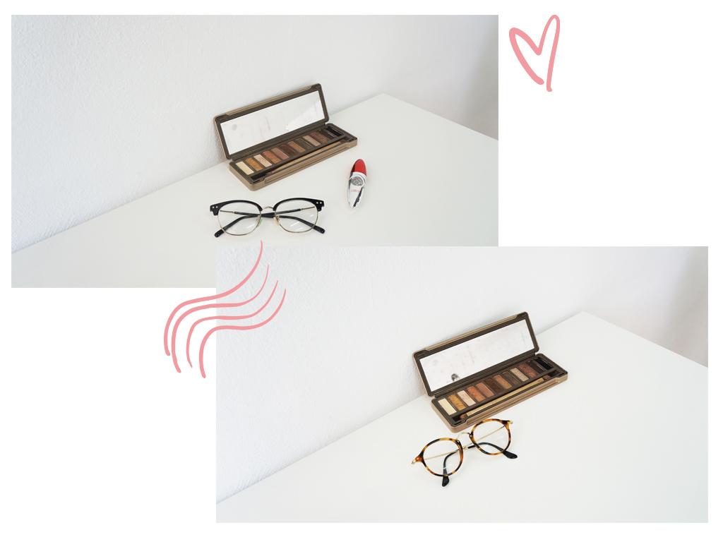 Maquillaje con gafas redondas