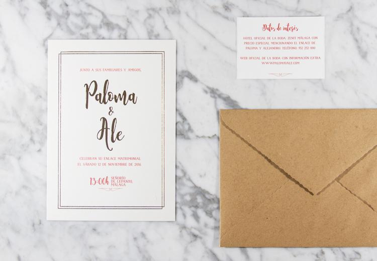 Invitación de boda Oro