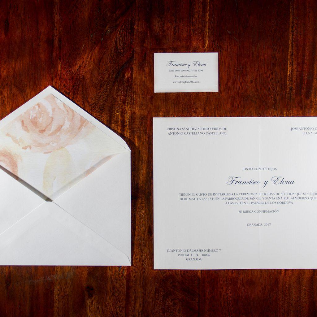 Invitación de boda Malaga
